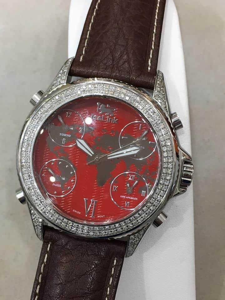 Ice Link Watch With Diamonds