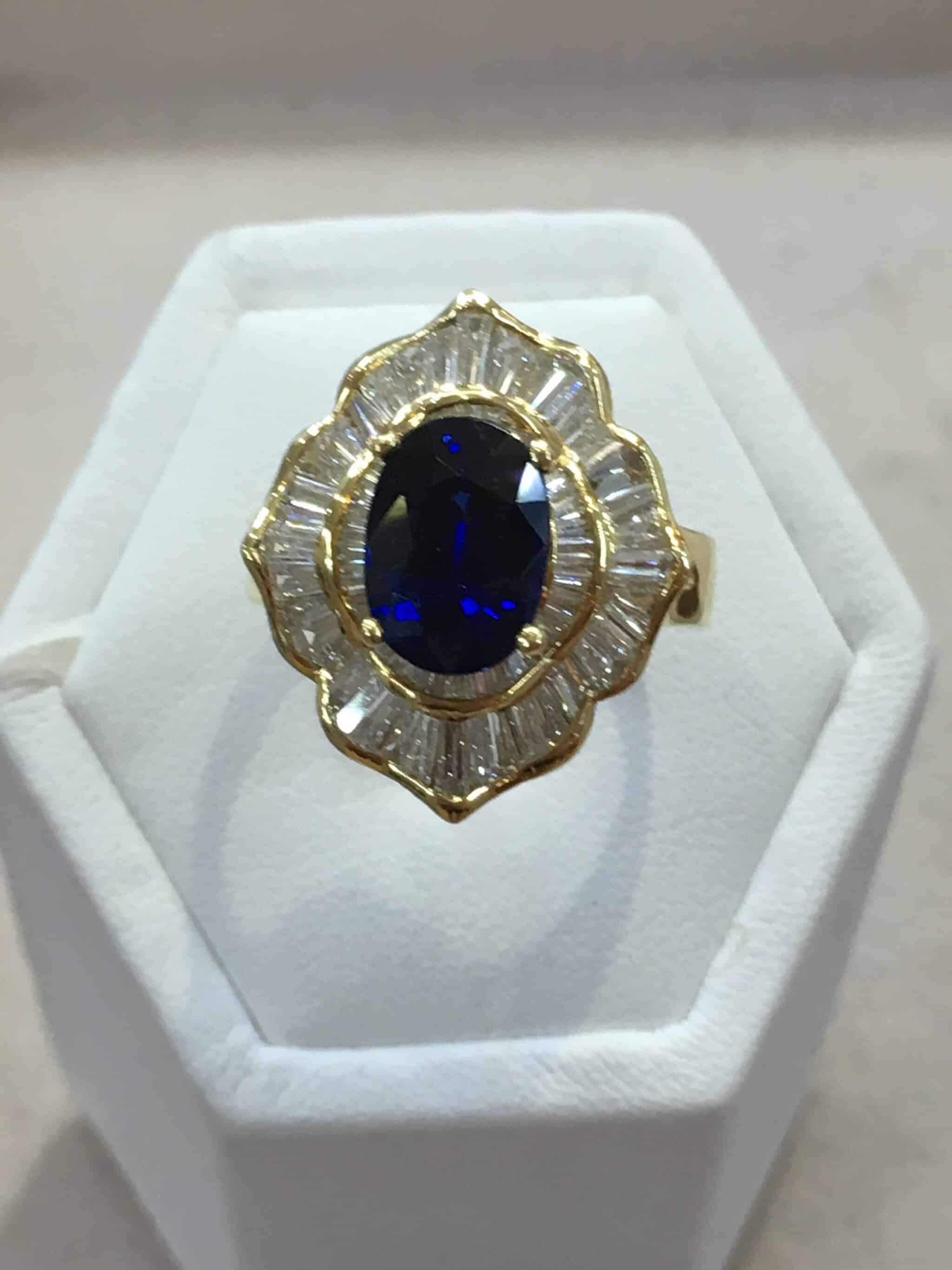 to golden expand wedding full diamond ring sapphire anniversary item engagement click